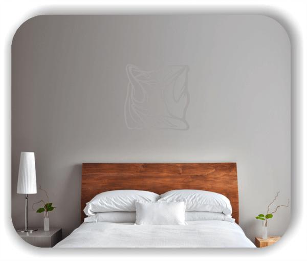 Wandtattoo - Quadratisch Florale Silhouetten - Motiv 24