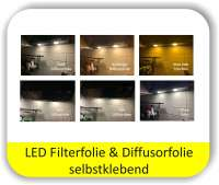 LED Farbfolien Potpourri Mix Farben - LED Warmlichtfilter