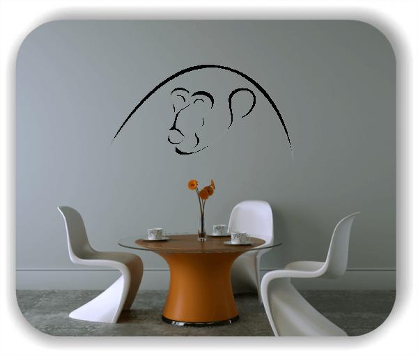 Wandtattoo - Tier Silhouette - ab 50x25 cm - Affe