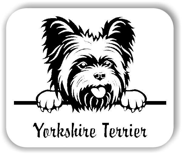 Wandtattoo - Hunde - Yorkshire Terrier Variante 1