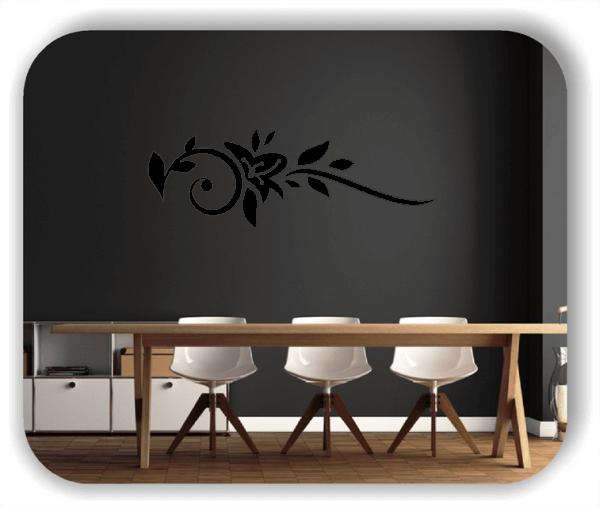 Wandtattoo - Florale Blumen & Blätter - Motiv 2810