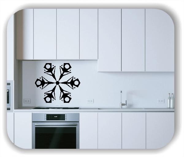 Wandtattoo - Snowflakes - ab 50x43 cm - Motiv 2551