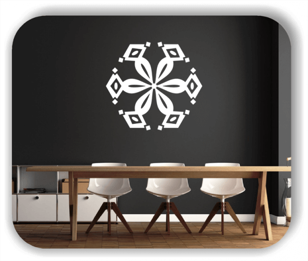 Wandtattoo - Snowflakes - ab 50x47 cm - Motiv 2516