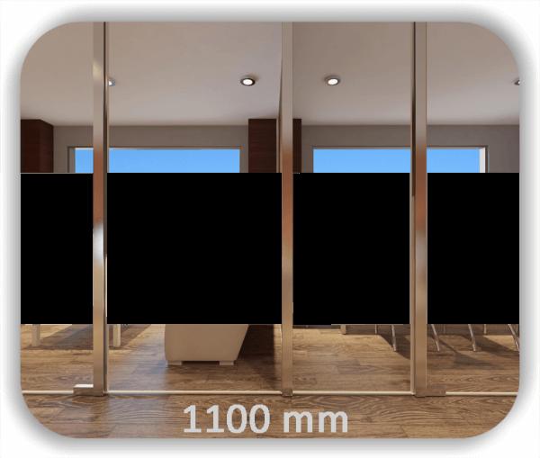 Durchlaufschutz Folie - Uni Farbig - Höhe: 110 cm - Streifen