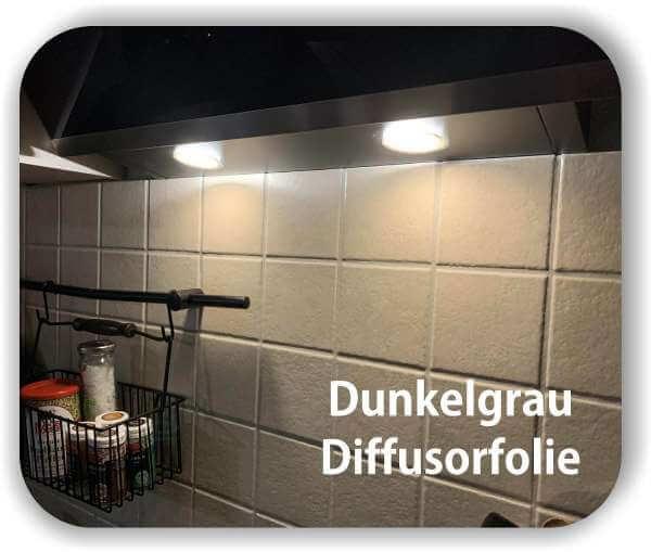 Diffusorfolie Dunkelgrau - Zuschnitt - LED Filterfolie - Warmlicht