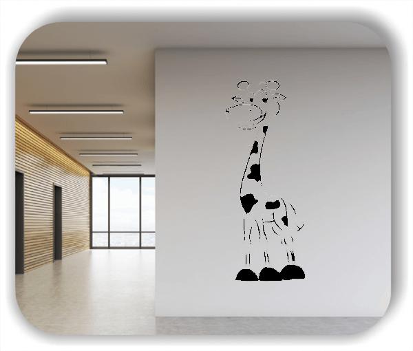 Wandtattoo - Süße Giraffe