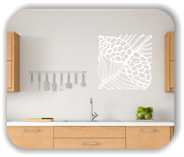 Wandtattoo - Quadratisch Florale Silhouetten - Motiv 00