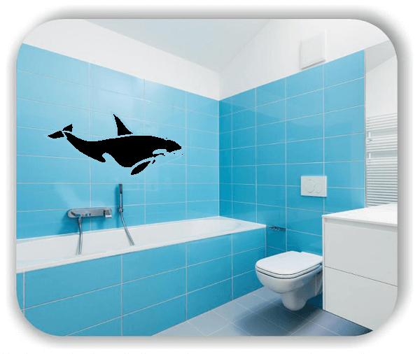 Wandtattoo - ab 50x34 cm - Orca