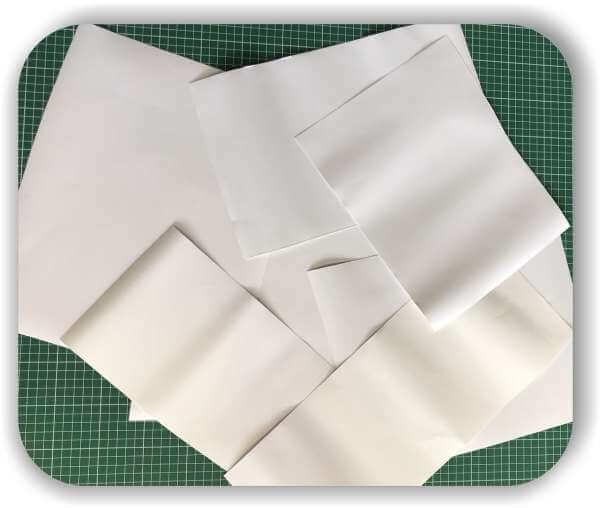 Folien Reste - 0,5 qm - Weiß - Selbstklebefolien