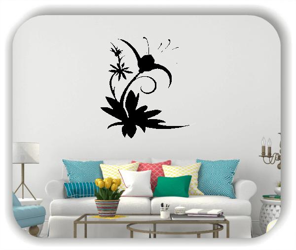 Wandtattoo - Florale Blumen & Blätter - Motiv 2848