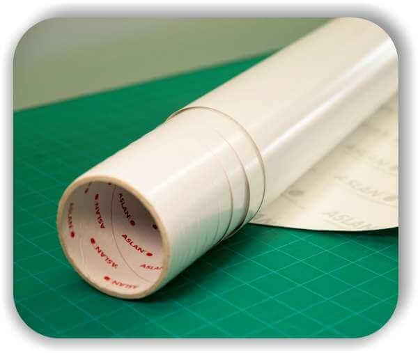 Whiteboard Folie HEXIS - Glänzend - Selbstklebend - Rollenbreite 137 cm