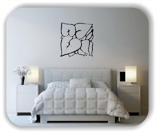 Wandtattoo - Quadratisch Florale Silhouetten - Motiv 26