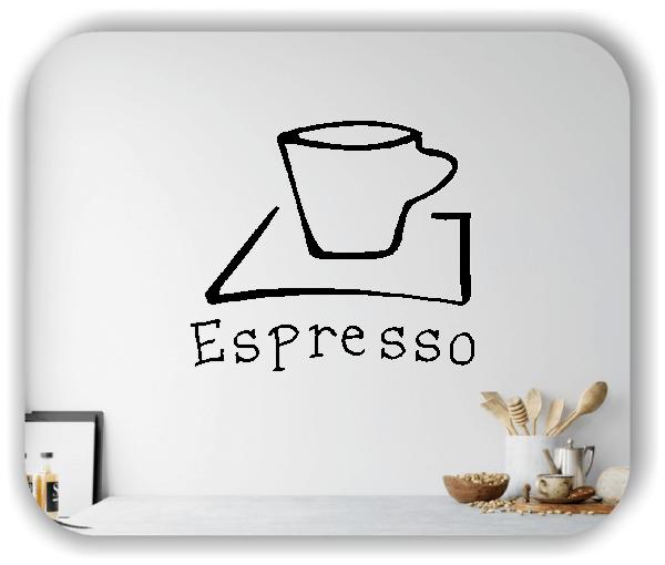 Wandtattoo - Espresso