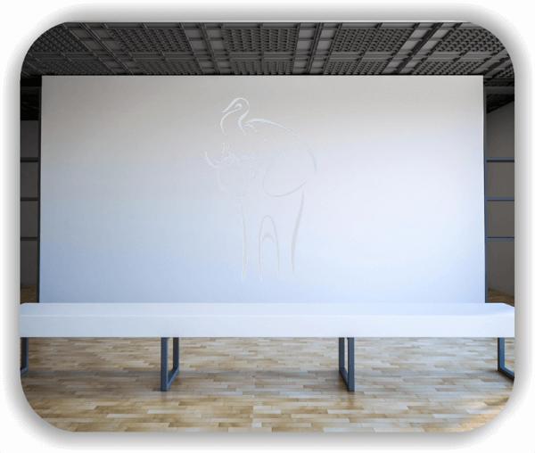 Wandtattoo - Tier Silhouette - ab 50x80 cm - Elefant