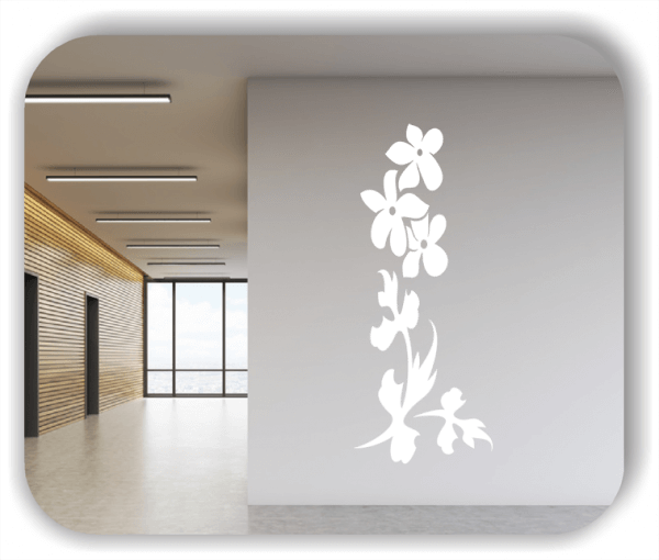 Wandtattoo - Florale Blumen & Blätter - Motiv 2886