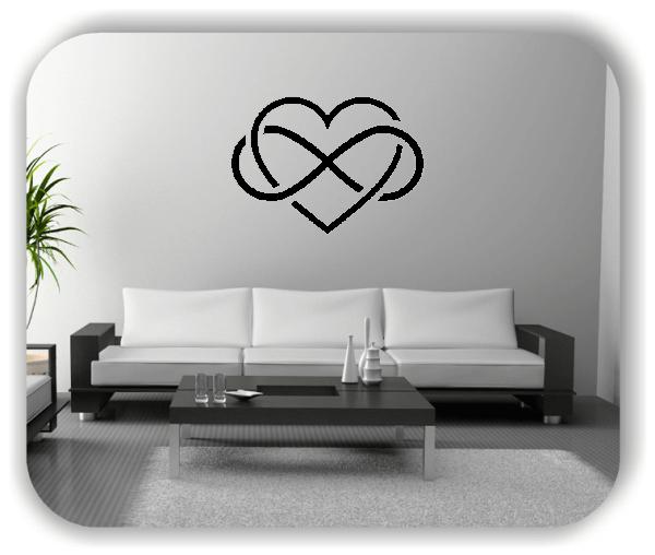 Wandtattoo - Endlossymbol mit Herz