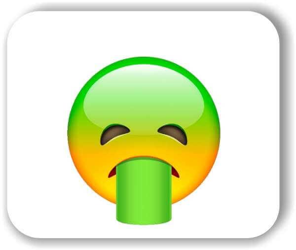 Strichgesicht - Übergebendes Gesicht
