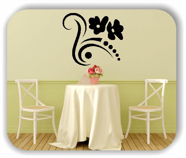 Wandtattoo - Florale Blumen & Blätter - Motiv 22