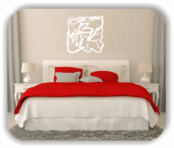 Wandtattoo - Quadratisch Florale Silhouetten - Motiv 25