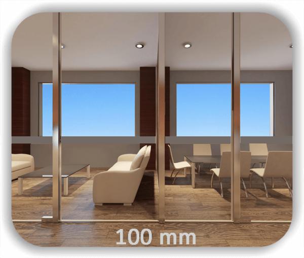 Durchlaufschutz Folie - Uni Farbig - Höhe: 10 cm - Streifen