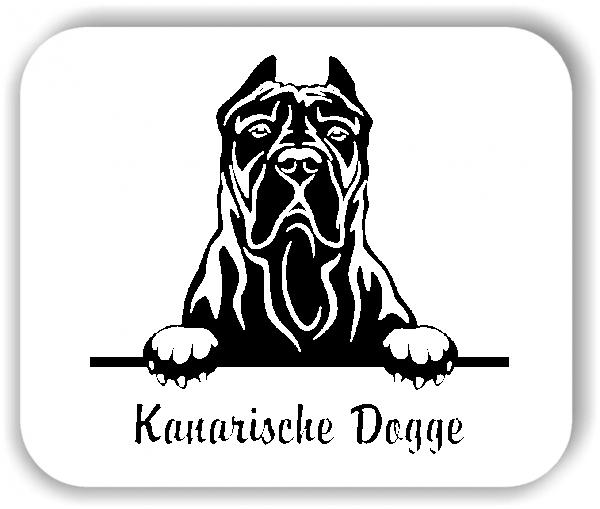Wandtattoo - Hunde - Kanarische Dogge Variante 1