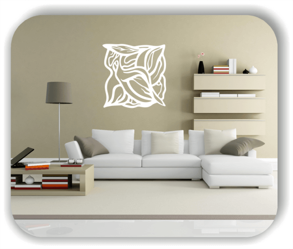 Wandtattoo - Quadratisch Florale Silhouetten - Motiv 38