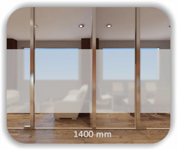 Durchlaufschutzfolie - Milchig - Höhe: 140 cm - Streifen