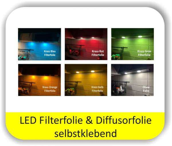 LED Farbfolien Potpourri Krasse Farben - LED Lichtfolien