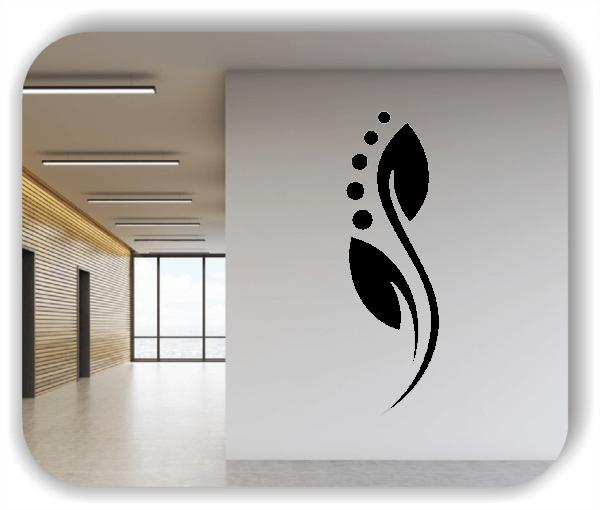 Wandtattoo - Florale Blumen & Blätter - Motiv 96