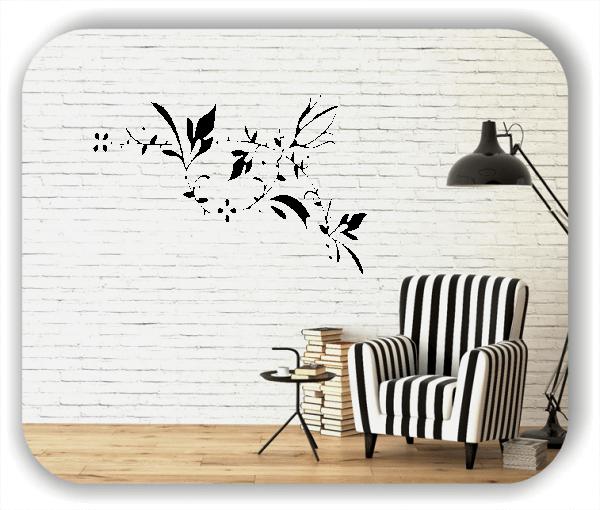 Wandtattoo - Florale Blumen & Pflanzen - ab 50x32,5 cm - Motiv 3029