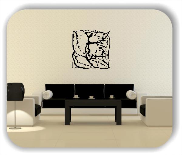 Wandtattoo - Quadratisch Florale Silhouetten - Motiv 40