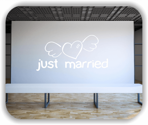 Wandtattoo - just married