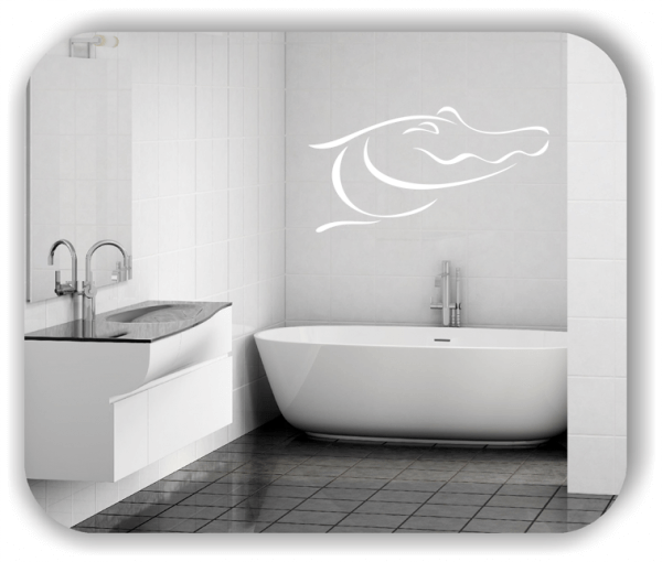 Wandtattoo - Tier Silhouette - ab 50x25 cm - Krokodilkopf