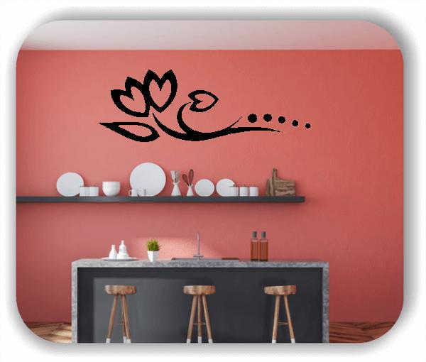 Wandtattoo - Florale Blumen & Blätter - Motiv 03