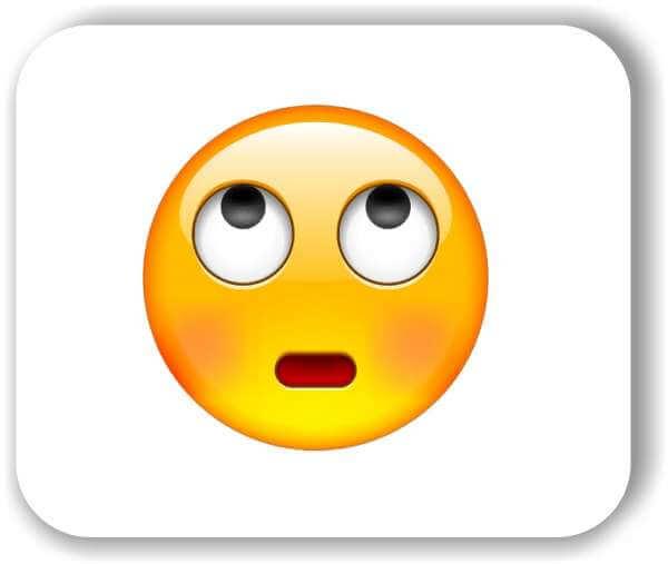 Strichgesicht - Augen rollendes Gesicht