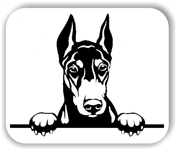 Wandtattoo - Hunde - Dobermann Variante 4 - ohne Rassename