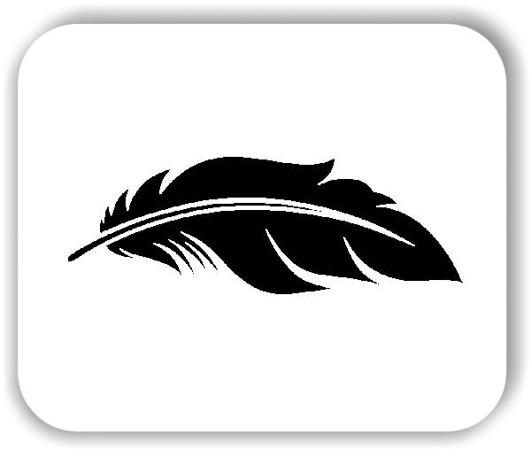 Wandtattoo - Federn - VPE: 1 Stück - Motiv 4