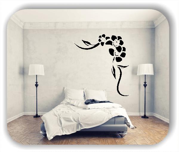 Wandtattoo - Florale Blumen & Blätter - Motiv 2850