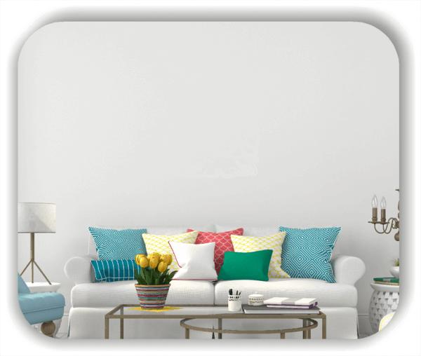 Wandtattoo - Quadratisch Florale Silhouetten - Motiv 37