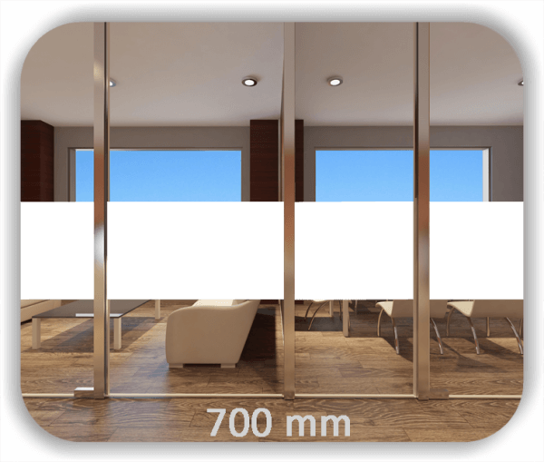 Durchlaufschutz Folie - Uni Farbig - Höhe: 70 cm - Streifen