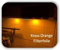 Zuschnitt Krass Orange - LED Filterfolie - LED Warmlichtfilter