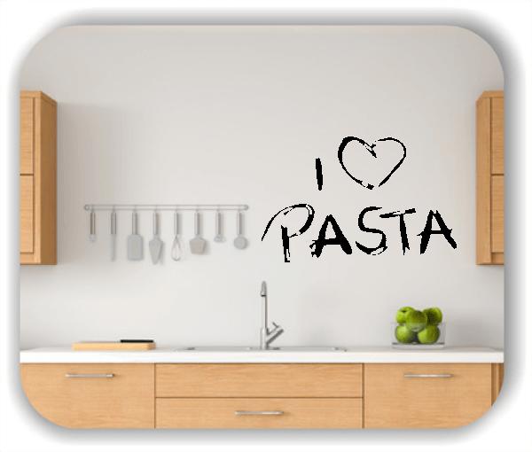Wandtattoo - I love Pasta