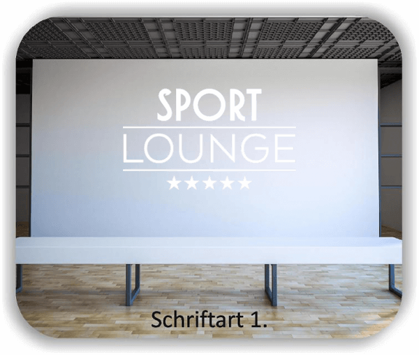 Wandtattoo - Sport Lounge
