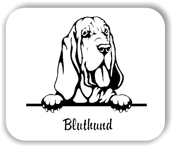 Wandtattoo - Hunde - Bluthund