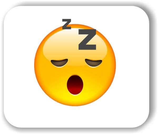 Strichgesicht - Schlafendes (müdes) Gesicht