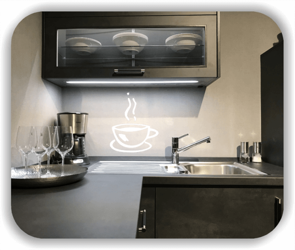 Wandtattoo - Dampfende Kaffeetasse