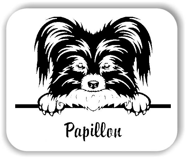 Wandtattoo - Hunde - Papillon
