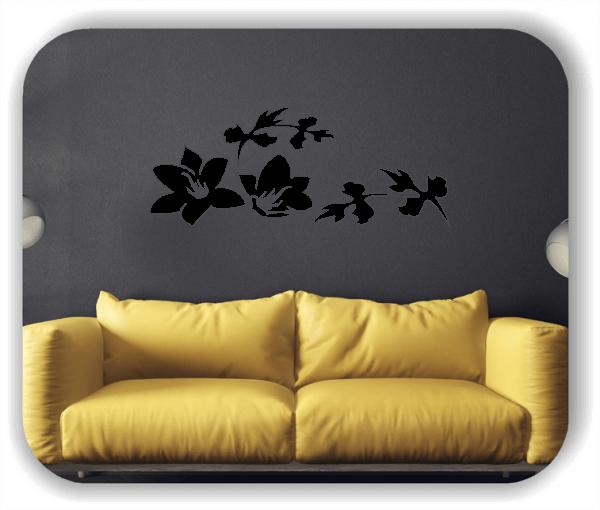 Wandtattoo - Florale Blumen & Blätter - Motiv 2828