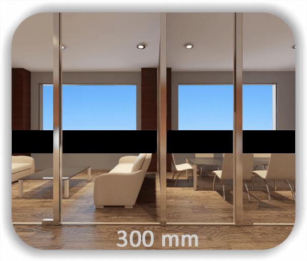 Durchlaufschutz Folie - Uni Farbig - Höhe: 30 cm - Streifen