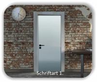 Türbeschriftung - Konferenzraum